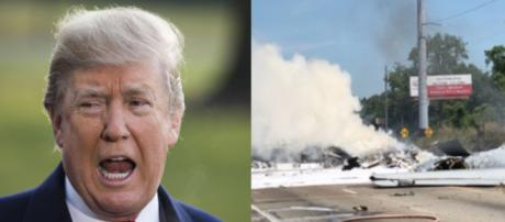 Donald Trump, National Guard crash, via Twitter