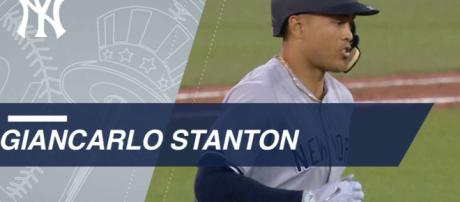 Giancarlo Stanton making his mark in Yankees history. [image source: 227 MLB spicey - Flickr]