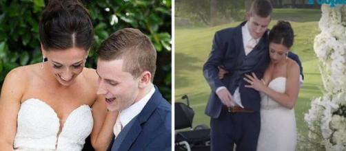 Chris Norton caminhou em seu casamento com Emily, emocionando a todos (Foto: People/Montagem RPA)