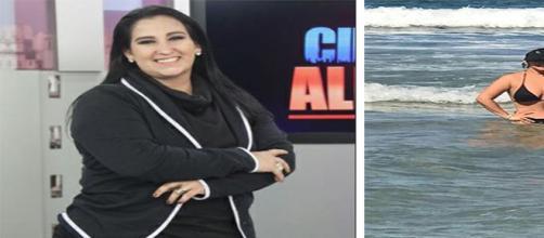 Jornalista compartilha clique de biquíni