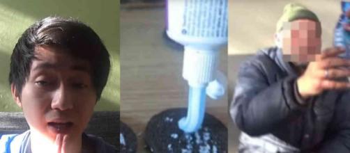 Kanghua Ren deu bolachas recheadas com creme dental para mendigo e poderá ser condenado. (Foto: Youtube)