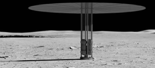 Kilopower unit on the moon [image courtesy NASA]