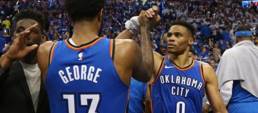 NBA rumors indicate that Paul George is 'gone' as a free agent after one season with the OKC Thunder. [Image via NBA/YouTube]