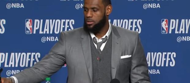 LeBron James interview. - [House of Highlights / YouTube screencap]