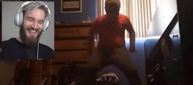 PewDiePie reacting to Orange Shirt Kid - [PewDiePie/YouTube]