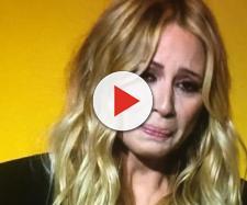 Marta Sanchez llorando por un acto de Ciudadanos