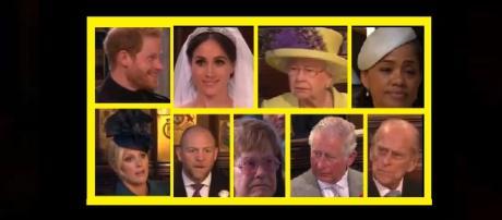 Royal wedding faces change their expressions during preacher's sermon. - [Photo: CNNTV News / YouTube screenshot]