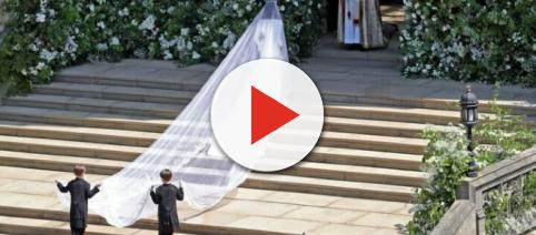 Meghan Markle's wedding gown and the significance behind it. - [Image Credit: Nora Williams / YouTube Screenshot]