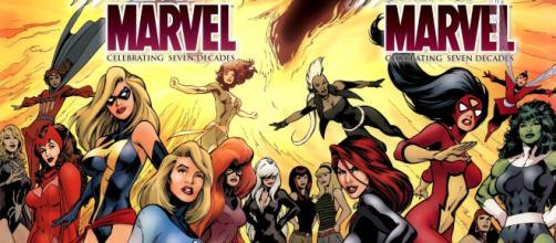 Chicas extraordinarias, aunque en la época en que Marvel, realizaba sus primeras historietas no se tomaban muy en cuenta los personajes femeninos