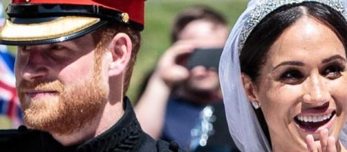 El príncipe Harry y Meghan Markle durante su boda