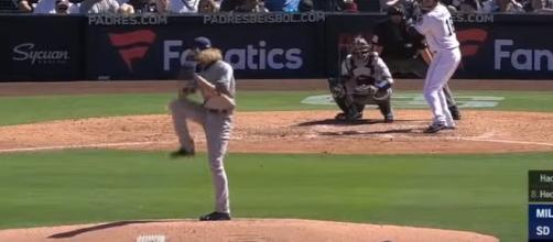 Josh Hader in action. - [MLB / YouTube screencap]