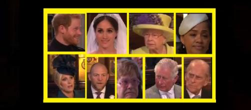 Royal wedding faces change their expressions during preacher's sermon. - [Photo: CNNTV News / YouTube screenshot]
