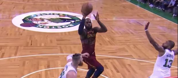 LeBron James and the Cavs try to grab first win of the Eastern Conference Finals at home on May 19. - [Image via NBA / YouTube screencap]