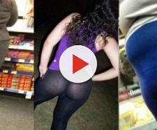 As mulheres precisam tomar cuidado ao escolher uma legging. (foto reprodução).