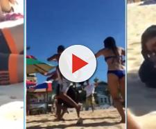 Grupo se incomoda com ato obsceno de casal em praia e caso termina em pancadaria