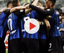 Serie A, l'incontenibile gioia dei calciatori nerazzurri per la qualificazione in Champions