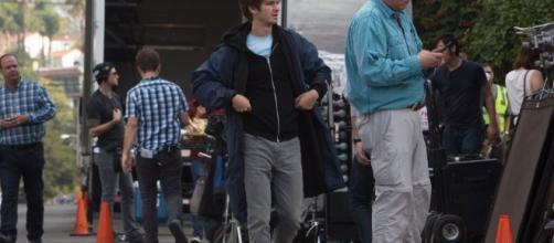 Andrew Garfield en el set de la película