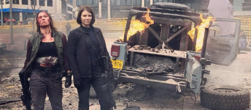 mile 22 viene con Lauren Cohan,la estrella de The Walking Dead