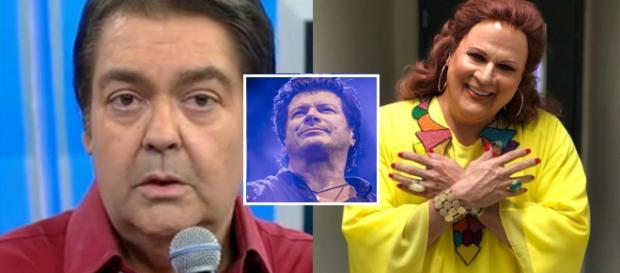 Paulo Ricardo se apresenta no 'Show dos Famosos'. (foto reprodução).