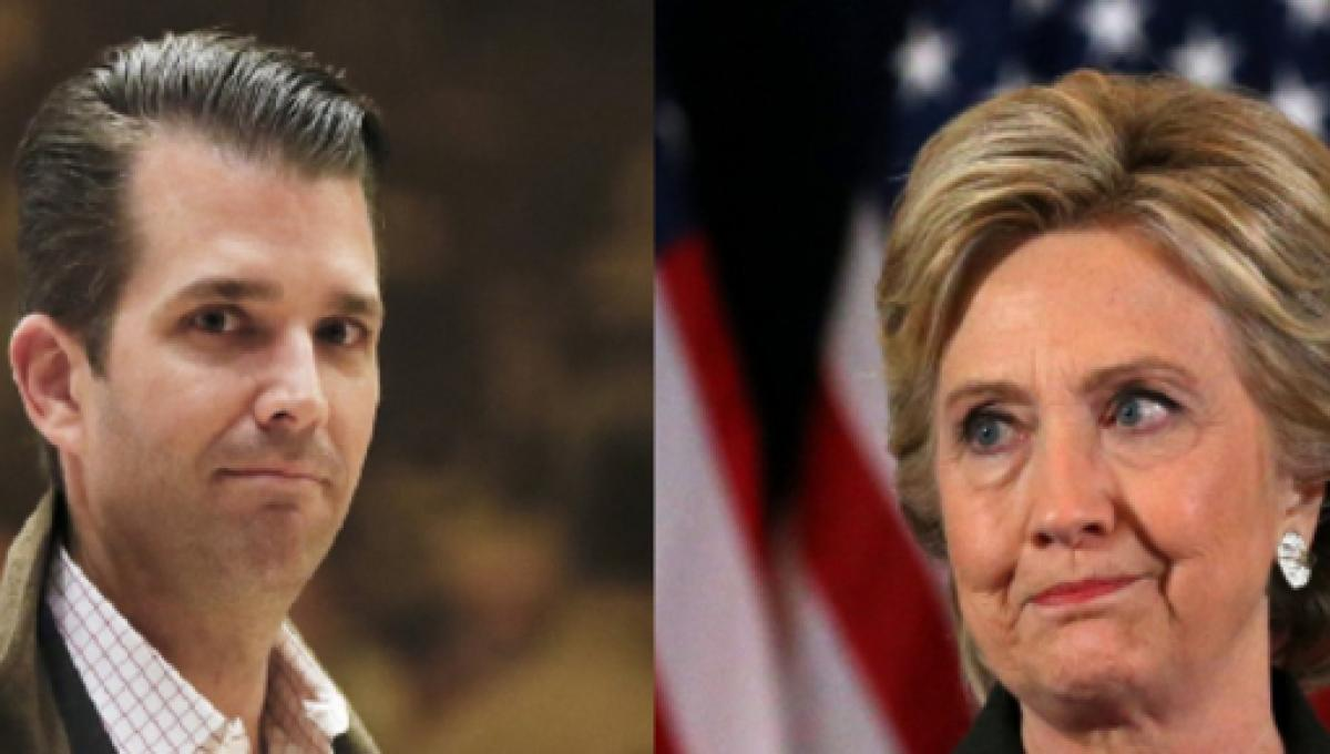 Don Jr  comments directed at Hillary Clinton fall short and