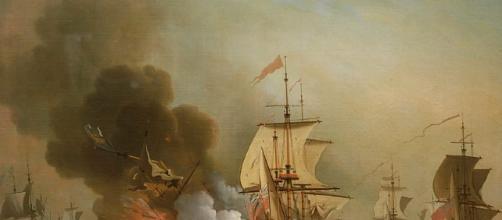 'Action off Cartagena, 28 May 1708' by Samuel Scott (Image via WikiMedia Commons)