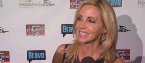 Camille Grammer attends an interview. [Photo via Entertainment Tonight/YouTube]