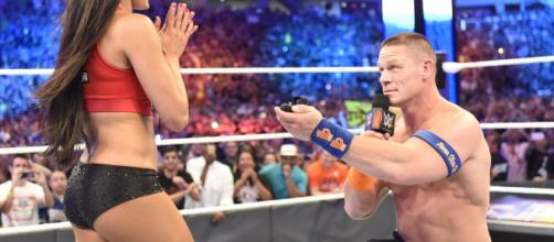 Nikki Bella and John Cena from screenshot