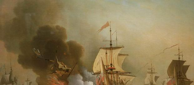 'Action off Cartagena, 28 May 1708' by Samuel Scott (Image via WikiMedia Commons)