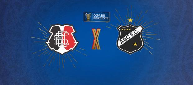 Copa do Nordeste: Santa Cruz x ABC ao vivo. (foto reprodução).