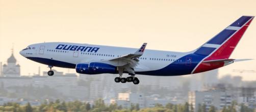 Avión de Cubana de Aviación en Cuba