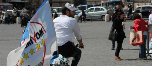 Il leader del Movimento5Stelle, Alessandro Di Battista