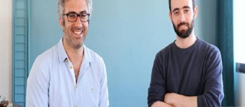 Los fundadores de Owkin Thomas Clozel (L) y Gilles Wainrib (R)