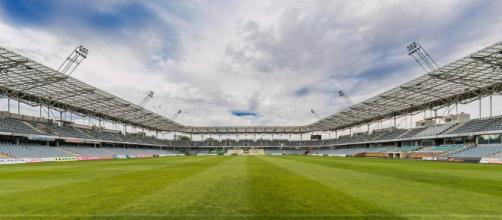 Nella foto, uno stadio di calcio
