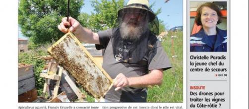 Principal organe d'information de l'Ardèche, le Réveil fait sa une sur les difficultés des apiculteurs et la disparition des abeilles