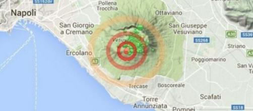 sciame sismico sul vesuvio ieri
