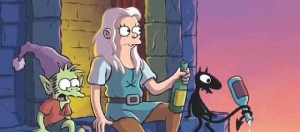 'Disenchantment' promo photo featuring (from left to right) Elfo, Bean, and Luci (via YouTube - moviemaniacsDE)