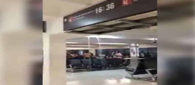 Cascadas en las salas de espera del aeropuerto
