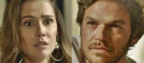Beto abandona Karola e vai viver na casa de Cacau em Segundo Sol. (Foto: TV Globo)