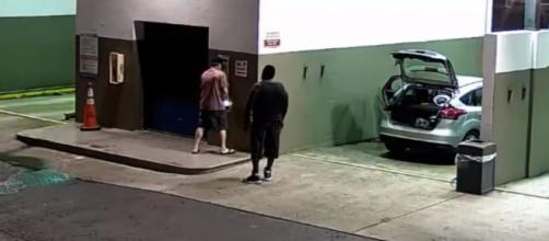 Stealing quarters from a local car wash. - [Broward Sheriff's Office / YouTube screencap]