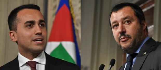 Les deux vainqueurs de l'élection anti-système en Italie: Luigi Di Maio et Matteo Salvini