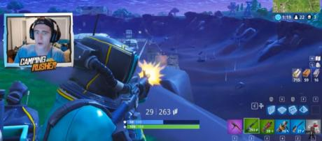 A 'Fortnite' - the game - image credit - YouTube/TheCampingRusher - Fortnite