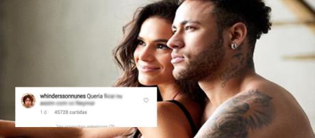 Whindersson Nunes e Luísa Sonza comentam foto de Neymar e Bruna Marquezine