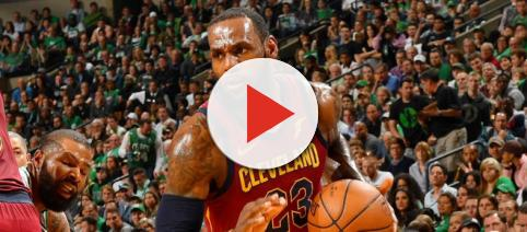 LeBron James will try to keep the Cavs' hopes of reaching the NBA Finals alive as they host Boston on Friday night. [Image via NBA/YouTube]