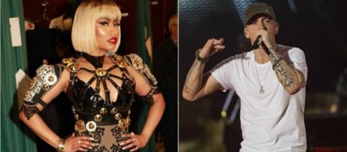Nicki Minaj y Eminem podrían tener un romance. (Fotos: Instagram)