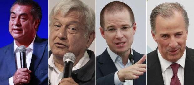 Los cuatro candidatos a la presidencia de México