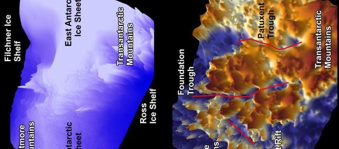 Cañones gigantes descubiertos en la Antártida