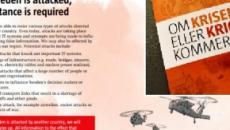 Svezia: un opuscolo che prepara la gente alla guerra