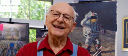 Astronaut Alan Bean in his studio. image credit - Barbara Brannon, Flickr