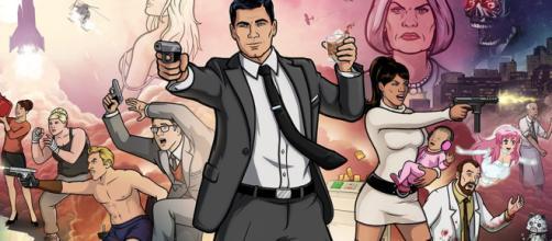 Imagen promocional de Archer a modo de poster
