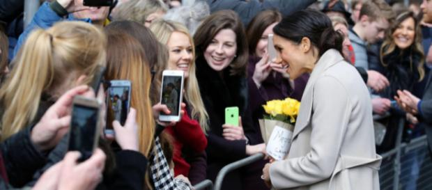 Prince Harry and Ms. Markle visit Belfast's Crown Liquor Saloon (Image credit – Northern Ireland Office, Wikimedia Commons)